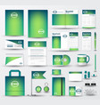 business corporate identity template set with logo vector image vector image