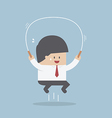Businessman jumping rope Business training concep vector image