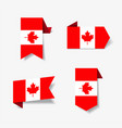 canadian flag stickers and labels vector image