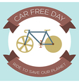 Car Free Day vector image