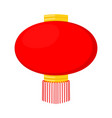 cartoon red chinese paper lantern vector image vector image