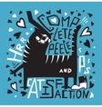 cat humorous poster print fun design vector image vector image