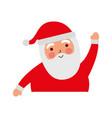 christmas portrait happy santa claus character vector image