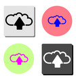 cloud upload flat icon vector image