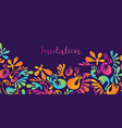 concept wavy exotic jungle flowers vector image