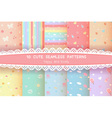 cute rainbow season colorful pastel seamless vector image