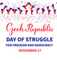 day struggle for freedom and democracy of vector image vector image