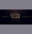 elegant golden colored metal chrome alphabet font vector image vector image