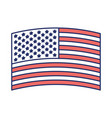flag united states of america wave in design color vector image vector image