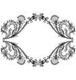 floral vintage border frame design vector image