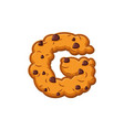 g letter cookies cookie font oatmeal biscuit vector image
