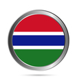 Gambia flag button vector image vector image