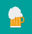 glass of beer in a flat style with shadow vector image vector image