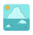 global warming problem icon with glaciers that vector image
