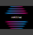 glowing neon laser stripes abstract background vector image vector image