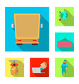 goods and cargo icon set vector image