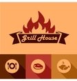 grill house design elements vector image