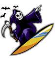 Grim Surfer vector image vector image