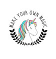 hand drawing unicorn vector image