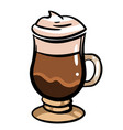 hand-drawn colorful coffee glace vector image