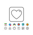 heart line icon love sign vector image