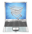 internet shopping laptop concept vector image vector image