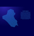 iraq map abstract schematic from blue ones and vector image vector image
