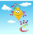 kite cartoon vector image vector image