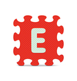 letter E written with alphabet puzzle vector image