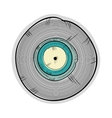 long play disc vector image vector image