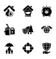 make a donation icons set simple style vector image vector image
