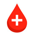 medical blood drop icon flat style vector image