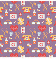 Medical seamless pattern in trendy flat style vector image vector image