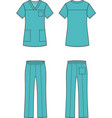 medical suit vector image
