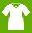 men tennis t-shirt icon green vector image vector image