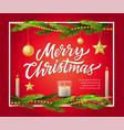 merry christmas - modern realistic vector image