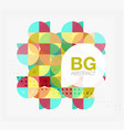 modern geometric circle abstract background vector image vector image