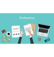 multi tasking concept with vector image vector image