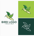 natural hummingbird logo design stock vector image vector image