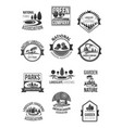 nature landscape company icons set vector image vector image