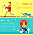 office managers deadline cartoon vector image