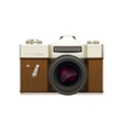 Old fashioned vintage camera vector image vector image