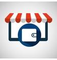 online shop save money wallet design icon vector image