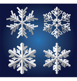 origami snowflakes vector image vector image