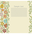 ornament of flower scroll and leaf vector image