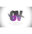 ov o v zebra texture letter logo design vector image vector image