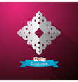 Paper Cut Snowflake on Violet Background vector image vector image