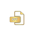 PPT computer symbol vector image vector image