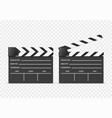 realistic 3d detailed clapper boards set vector image vector image