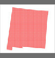 red dot map of new mexico vector image vector image